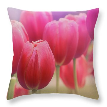 Tulips Entwined Throw Pillow