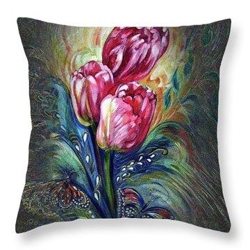 Tulips Fantasy Throw Pillow