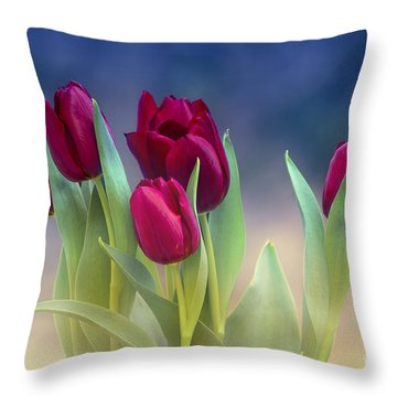 Tulips For Spring Throw Pillow by Rima Biswas