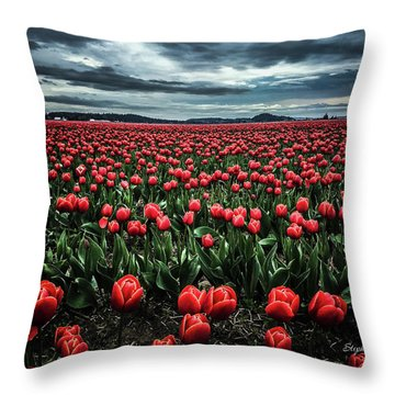 Tulips Forever Throw Pillow