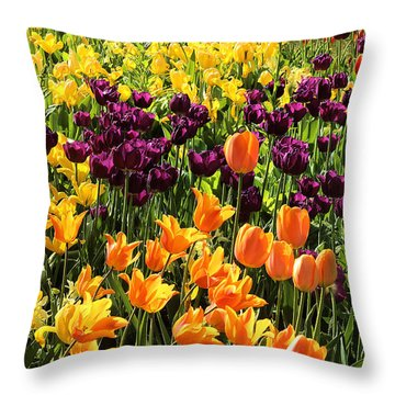 Tulips From Descanso Gardens Throw Pillow