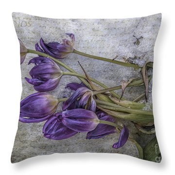 Tulips Frozen Throw Pillow