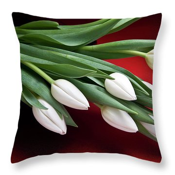 Tulips I Throw Pillow