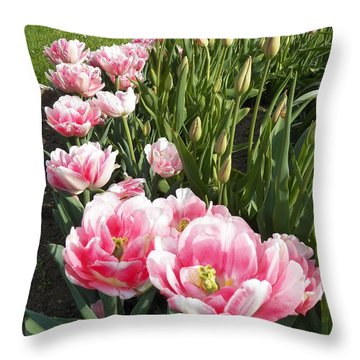 Tulips In Pink Throw Pillow
