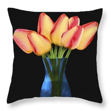 Tulips In Vase Throw Pillow
