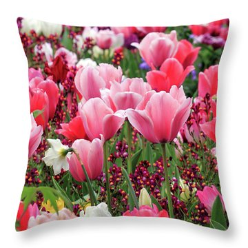 Throw Pillow featuring the photograph Tulips by James Eddy