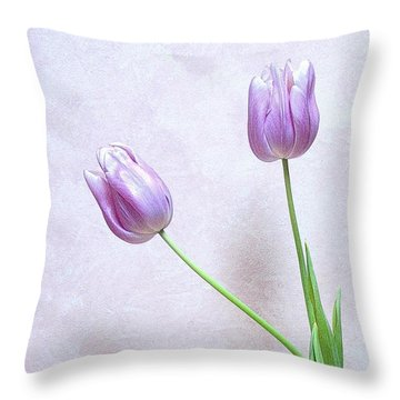 Throw Pillow featuring the photograph Tulips by Karen Shackles