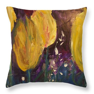 Tulips Throw Pillow by Gallery Messina
