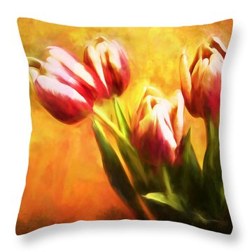 Tulips No 7 Throw Pillow
