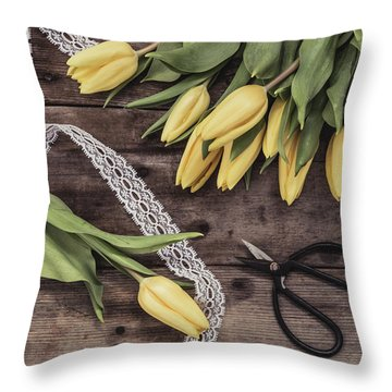 Throw Pillow featuring the photograph Tulips Of Spring by Kim Hojnacki