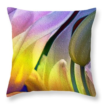 Tulips Secret Throw Pillow