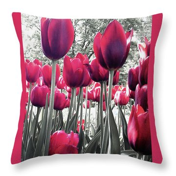 Tulips Tinted Throw Pillow