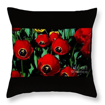 Throw Pillow featuring the photograph Tulips by Vanessa Palomino