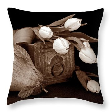 Tulips With Pear II Throw Pillow
