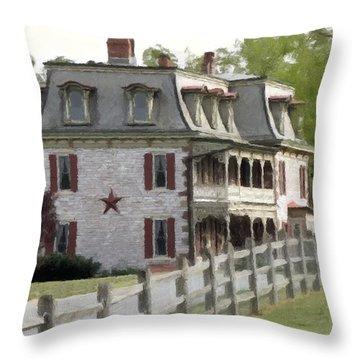 Throw Pillow featuring the photograph Tulpehocken Manor Plantation Historic Site  by David Dehner