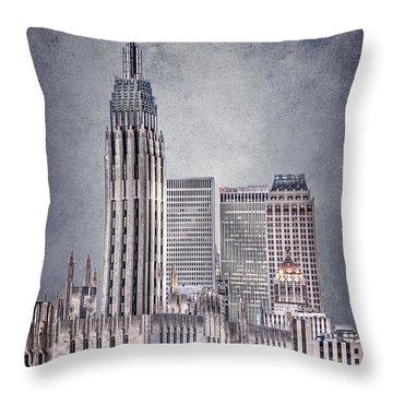 Tulsa Art Deco II Throw Pillow by Tamyra Ayles