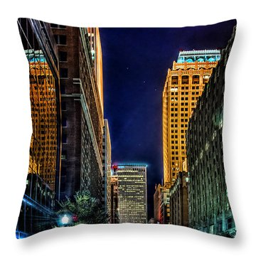Tulsa Nightlife Throw Pillow