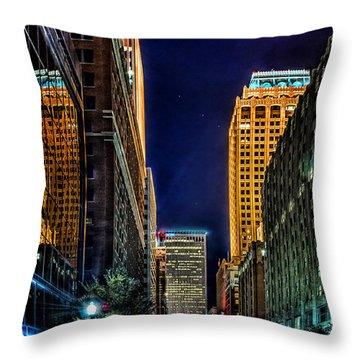 Tulsa Nightlife Throw Pillow by Tamyra Ayles