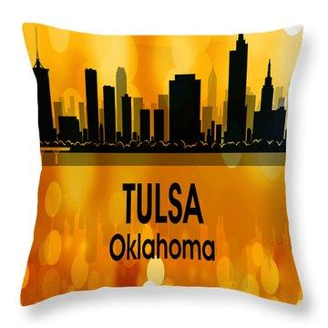 Tulsa Ok 3 Vertical Throw Pillow