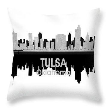 Tulsa Ok 4 Squared Throw Pillow