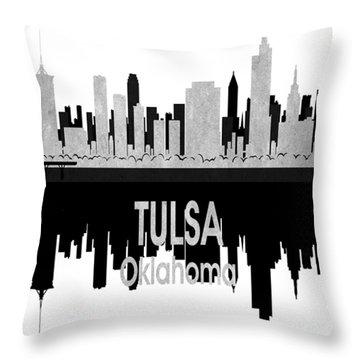 Tulsa Ok 4 Vertical Throw Pillow