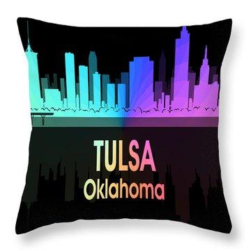 Tulsa Ok 5 Vertical Throw Pillow