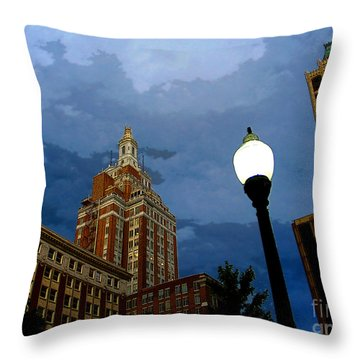 Tulsa Streetscape Throw Pillow
