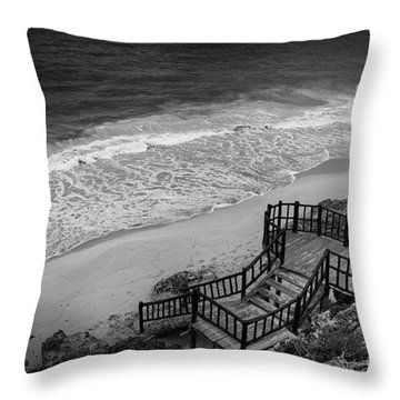 Tulum Beach Throw Pillow by Ana Mireles