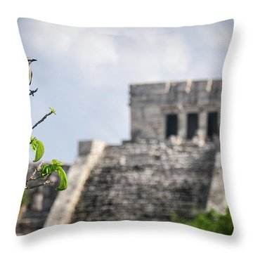 Tulum Mayan Ruins Throw Pillow