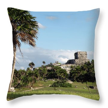 Throw Pillow featuring the photograph Tulum Mexico by Dianne Levy