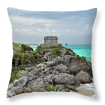 Tulum Mexico Throw Pillow