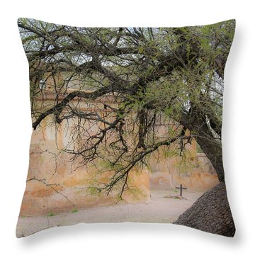 Tumacacori Mission Throw Pillow