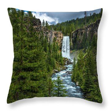 Tumalo Falls Throw Pillow