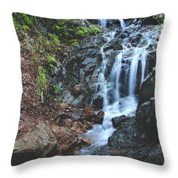 Throw Pillow featuring the photograph Tumbling Down by Laurie Search