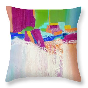 Tumbling Waters Throw Pillow by Irene Hurdle