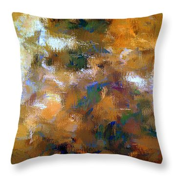Throw Pillow featuring the digital art Tumultuous Expectations by Rafael Salazar