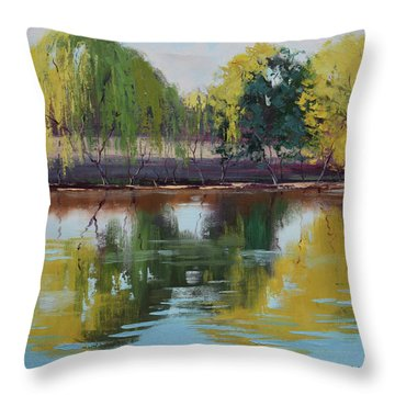 Tumut Reflections Throw Pillow