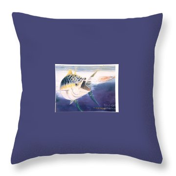 Tuna To The Lure Throw Pillow by Bill Hubbard
