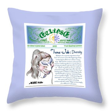 Real Fake News Spiritual Columnist 1 Throw Pillow by Dawn Sperry