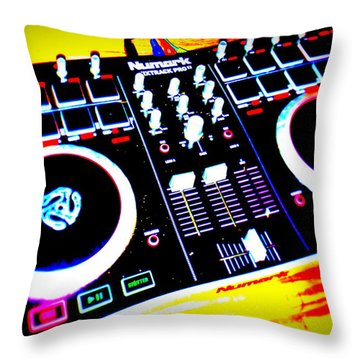Tunes Throw Pillow