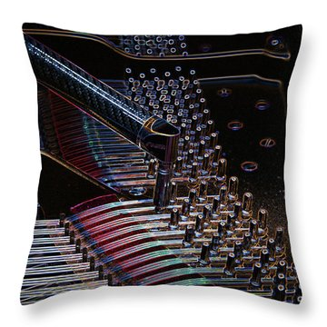 Tuning A Steinway For Jazz Throw Pillow