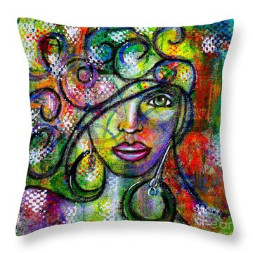 Tuning In Throw Pillow
