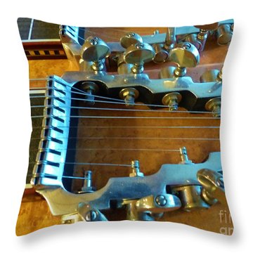 Tuning Pegs On Sho-bud Pedal Steel Guitar Throw Pillow