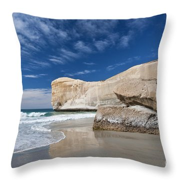 Tunnel Beach 1 Throw Pillow