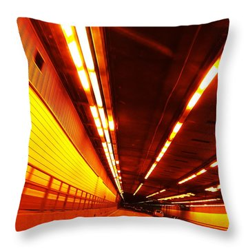 Tunnel Drive Throw Pillow