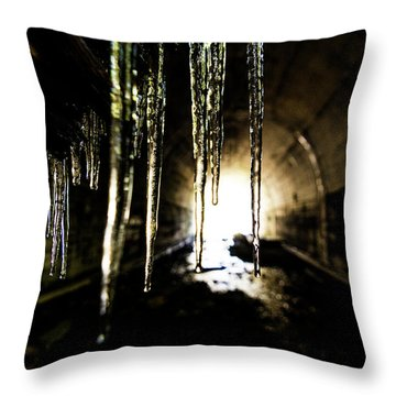 Tunnel Icicles Throw Pillow