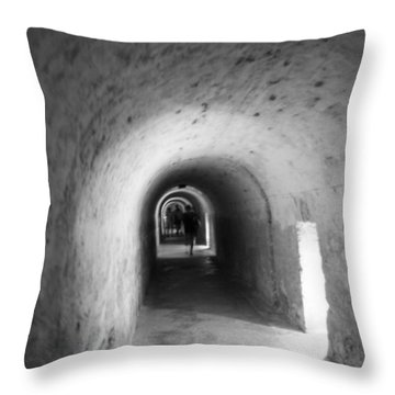 Tunnel In San Cristobal Throw Pillow