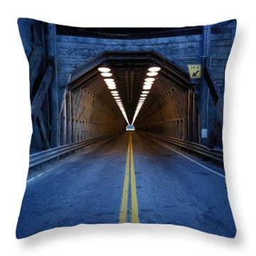 Tunnel Near Ential Washington Throw Pillow