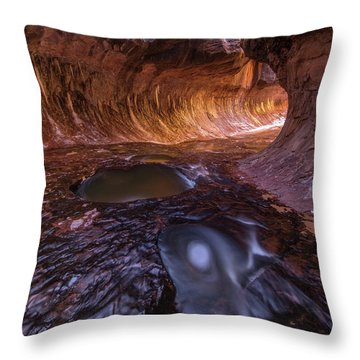 Throw Pillow featuring the photograph Tunnel Of Ice And Light by Dustin LeFevre