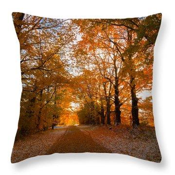Tunnel Through Morning Backlight Throw Pillow